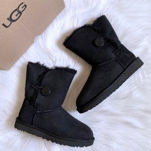 UGG Black Bailey Button II Boots